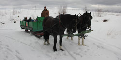 Summerhill Assisted Living Sleigh Ride in Jaffery, NH