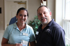 Tracy Lawn with Mike DiPasquale Summerhill April 2015 Employee of the Month