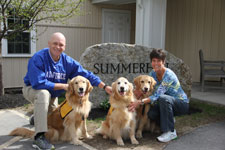 "Beth & Warren from Dublin NH are participants in the ""Pet Partners"" Program and visit our Summerhill residents on a regular basis"