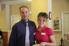 Shelbie Duval with Resident Care Director Matthew George