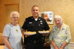 Jean , Police officer & Jean with pies