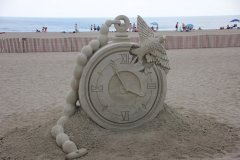 sand castle sands of clock